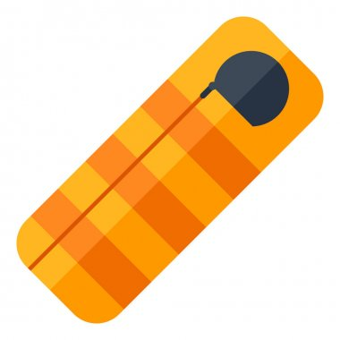 Illustration of sleeping bag. Image or icon for camping or tourism and travel. icon