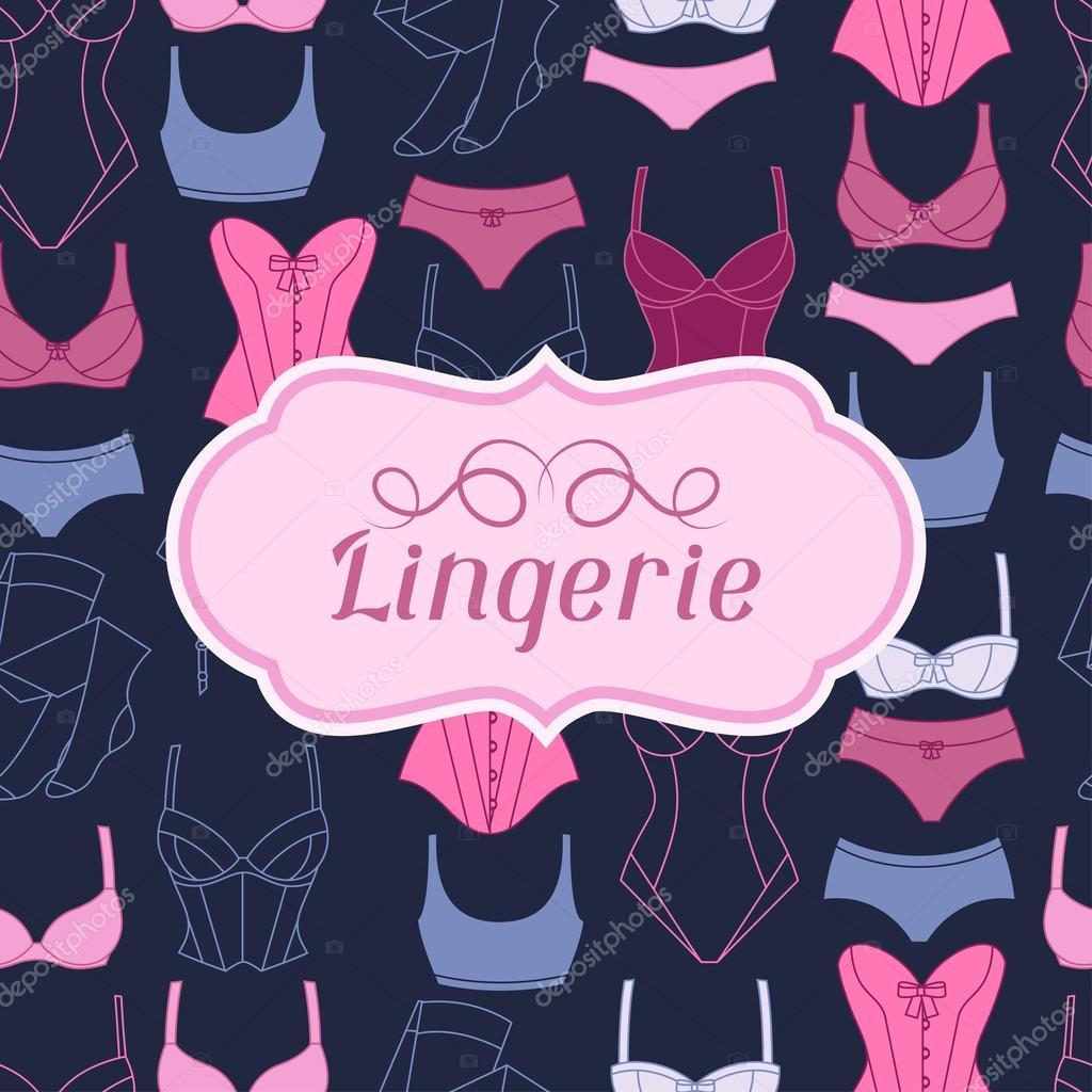 b69f368c41 Diseño de fondo de lencería de moda con ropa interior femenina — Archivo  Imágenes Vectoriales