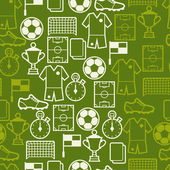 Fotografie Sports seamless pattern with soccer symbols.