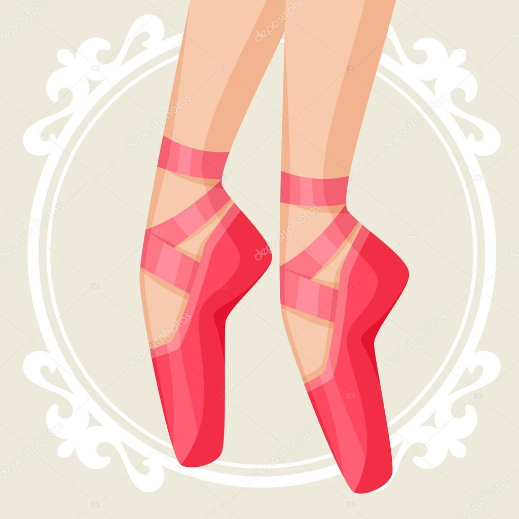 Tarjeta De La Invitación A La Danza Ballet Show Con Pointe