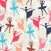 Fényképek Varrat nélküli mintát ballerinas sziluettek a tánc jelent