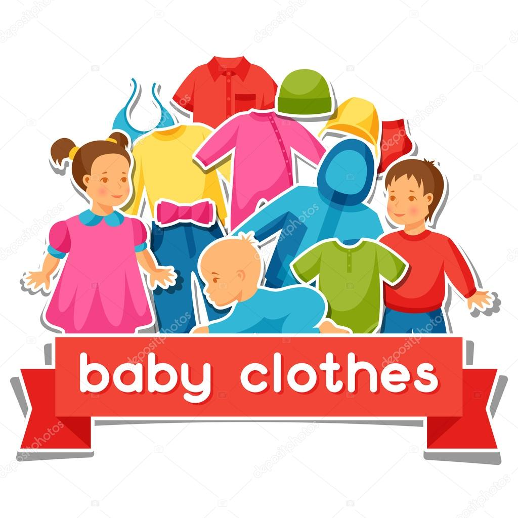 Baby Clothes Background With Clothing Items For Newborns And