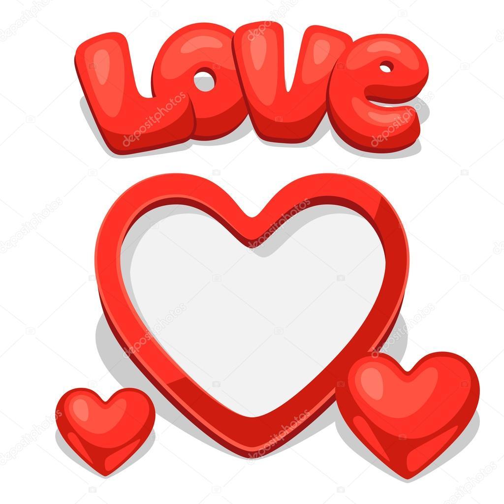 Fotorahmen mit Herzen. Konzept kann für den Valentinstag verwendet ...