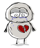 Nešťastná láska. Vektor