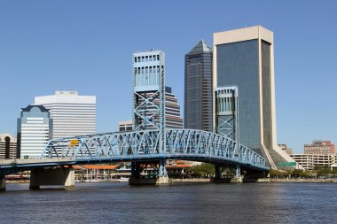 Jacksonville, Florida skyline across the St Johns River