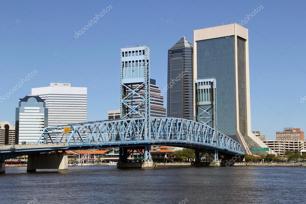 Jacksonville, Florida skyline across the St Johns River