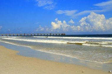 Jacksonville Florida beach pier along the Atlantic Coast