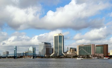Jacksonville Florida Skyline on the St. Johns River