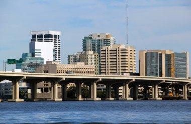 Jacksonville Florida bridge and skyline