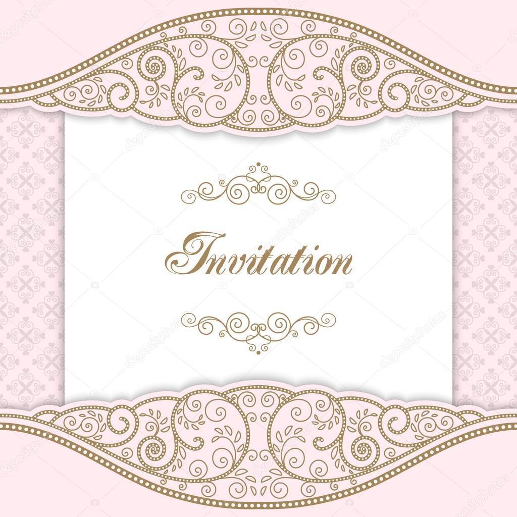 vintage invitation template stock vector nonikastar 104136284