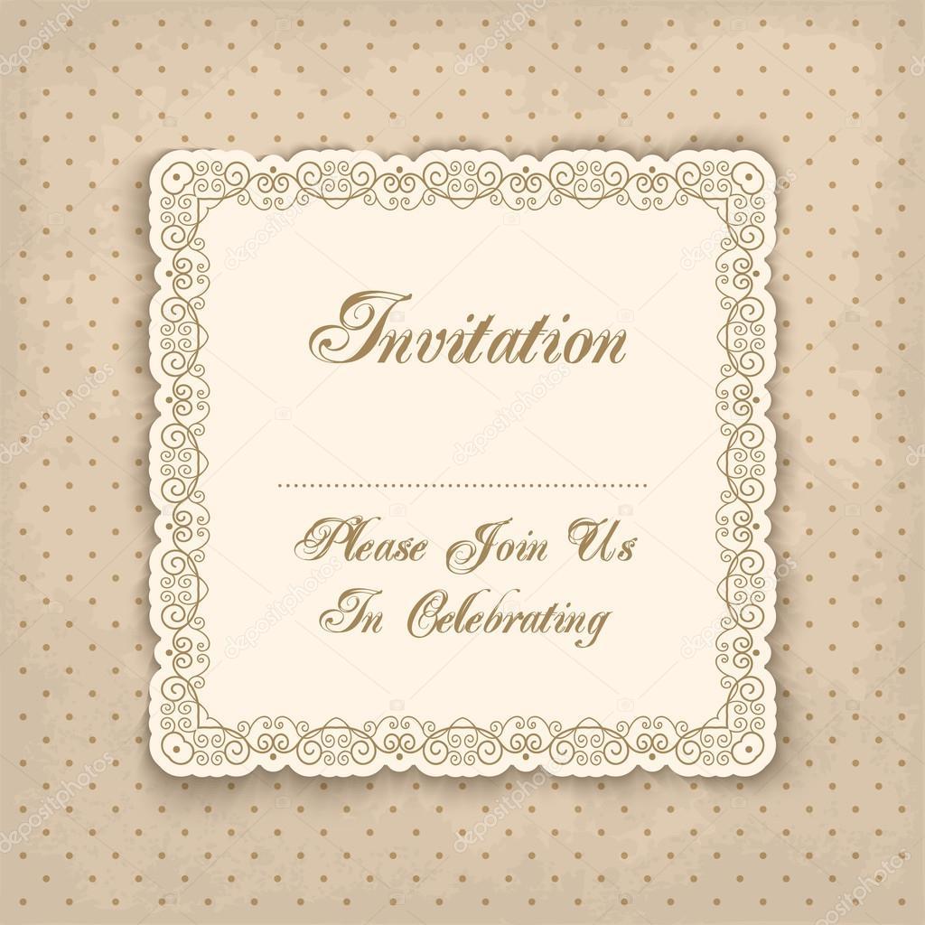 plantilla de invitación Vintage — Archivo Imágenes Vectoriales ...