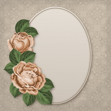 Floral card with roses