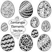 Fotografie Zentangle Elemente Eier