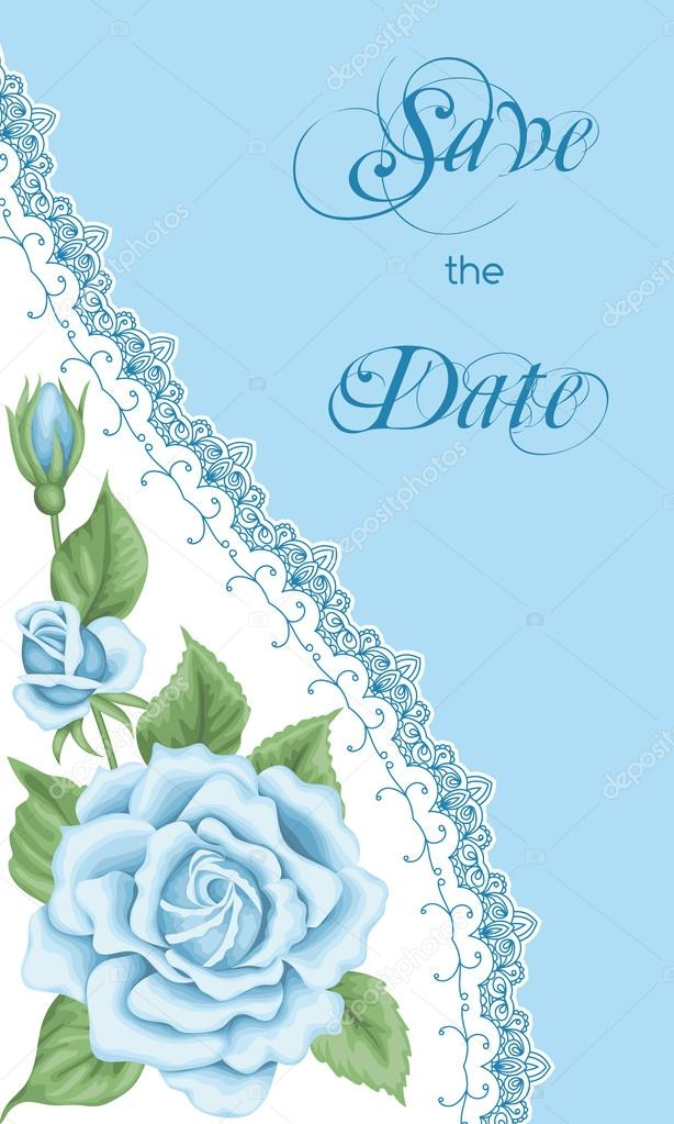 Vintage Invitation Template With Roses  Stock Vector  Nonikastar