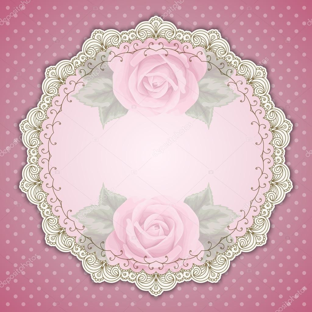 Retro round lace frame