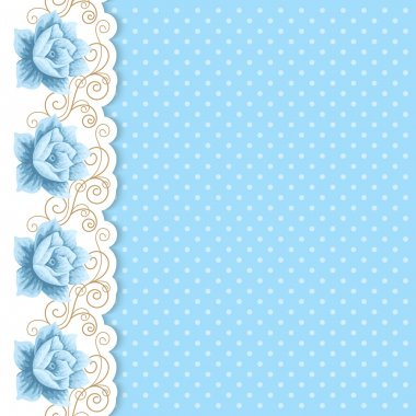 Polka dot background with roses