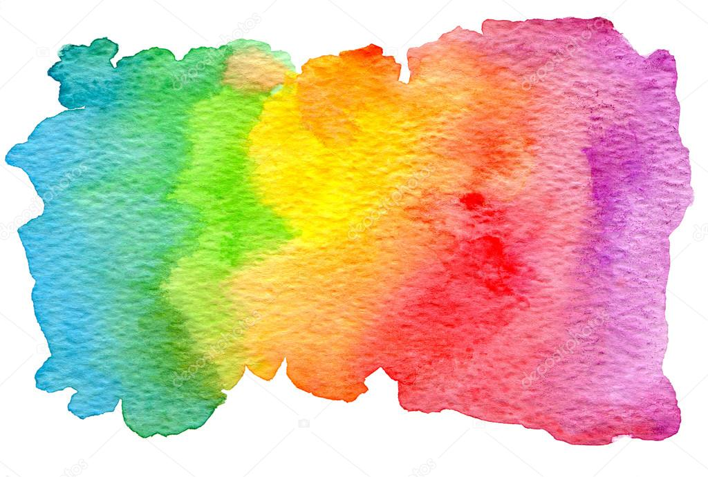 Free Photo Watercolors Rainbow Colors Lilac: Colorful Rainbow Watercolor Texture.