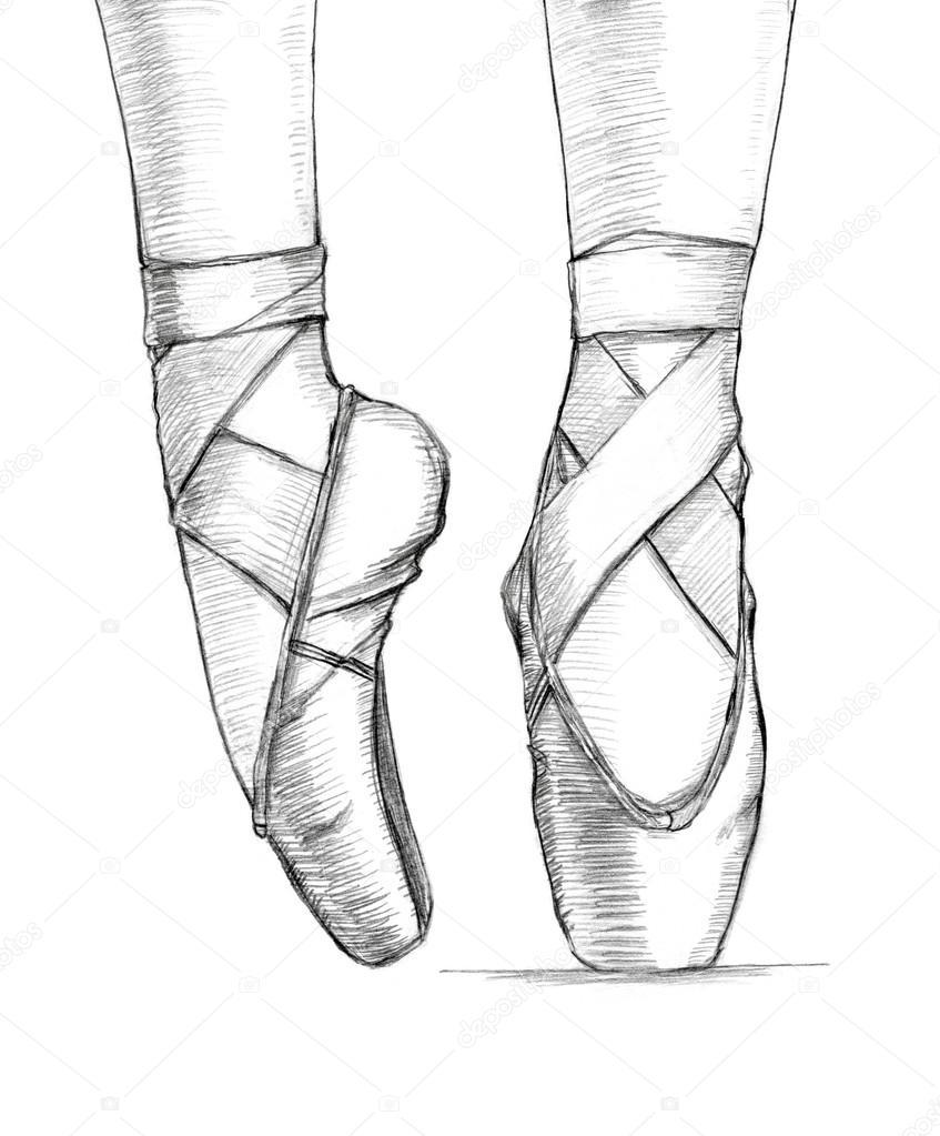 Scarica - Illustrazione dei piedi della ballerina delicato nel ballo ...