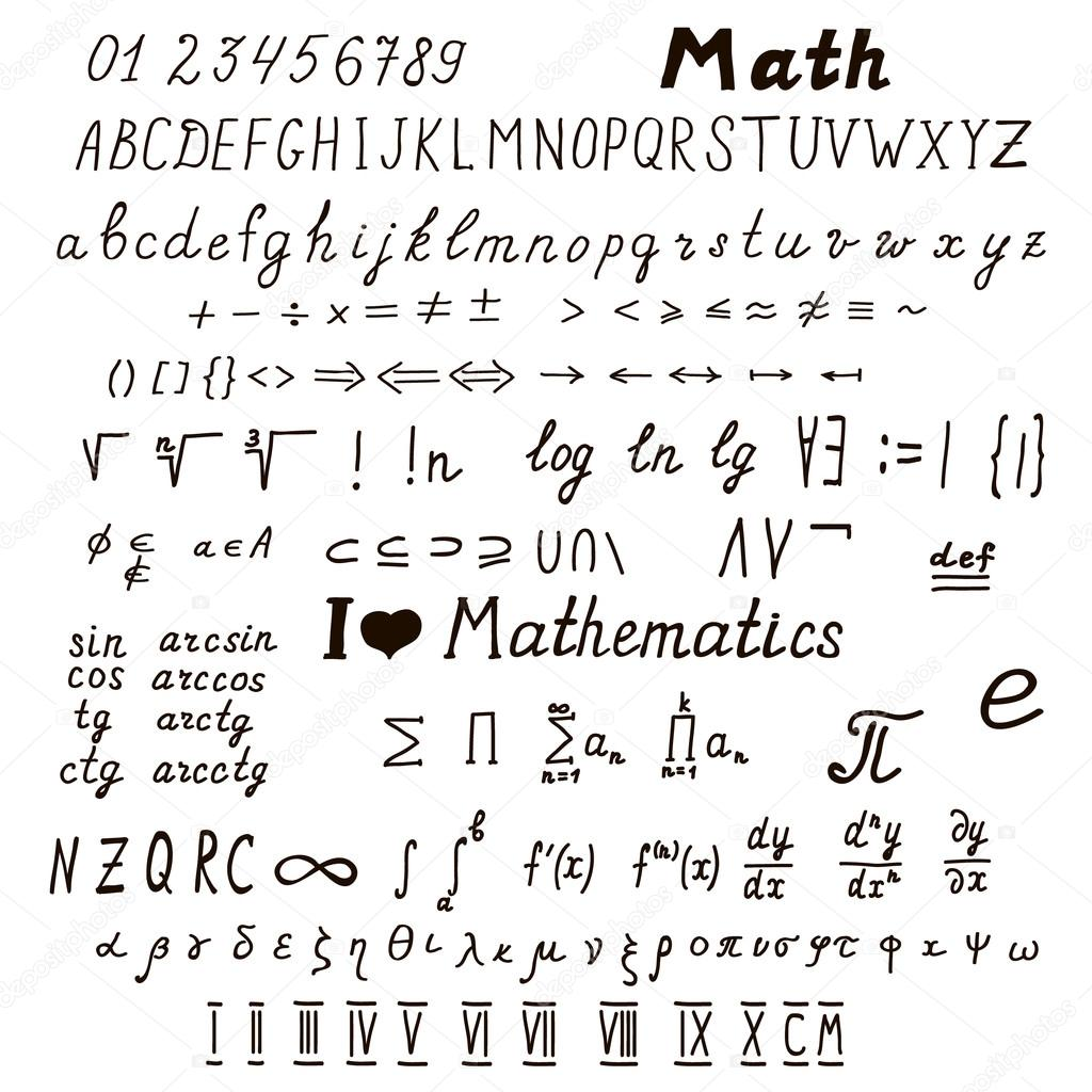 Set Of Mathematical Signs And Symbols Stock Vector Vicgripas