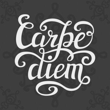 Hand lettering typography poster 'Carpe diem'