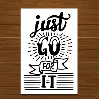 Just go for it poster