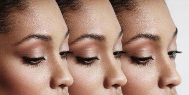 Black woman eyes