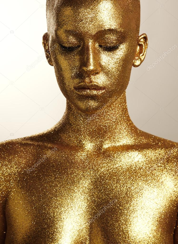 Woman With Gold Skin  Stock Photo  Kazzakova 72649231-5926