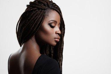 black woman with braids