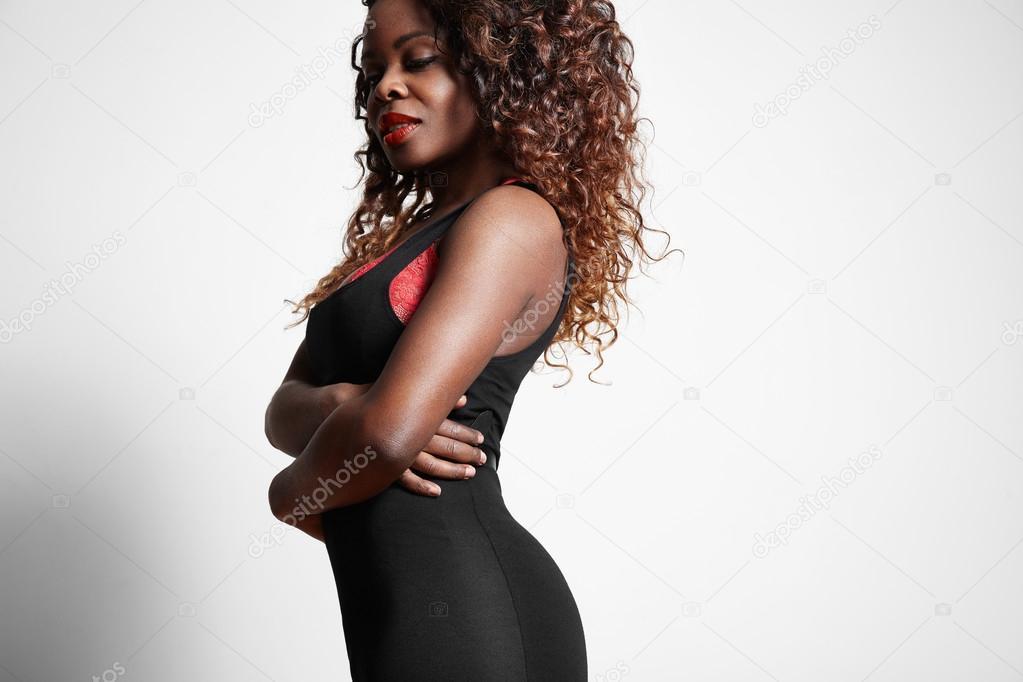 dc0d58839 mulher sexy preta — Fotografias de Stock © kazzakova  99261764