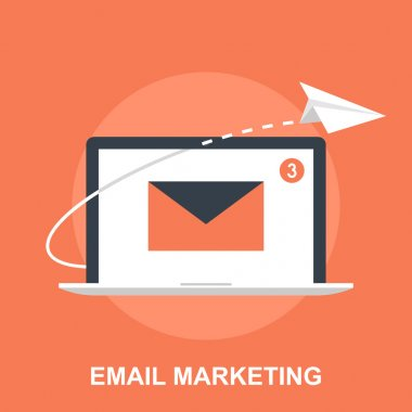 Vector illustration of email marketing flat design concept. stock vector