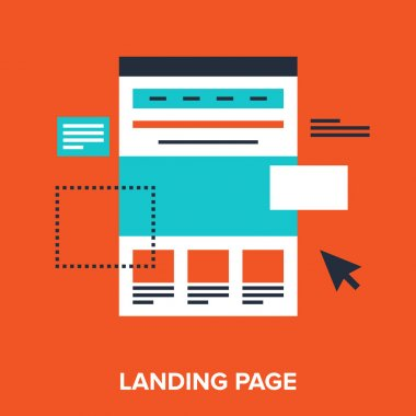 Abstract vector illustration of landing page flat design concept stock vector