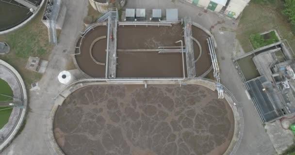 Luftaufnahme der Kläranlage, Übersicht der Kläranlage