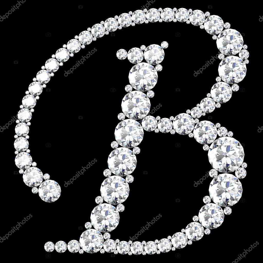B Letter Made From Diamonds And Gems On Black Background U2014 Photo By Boykung Part 96