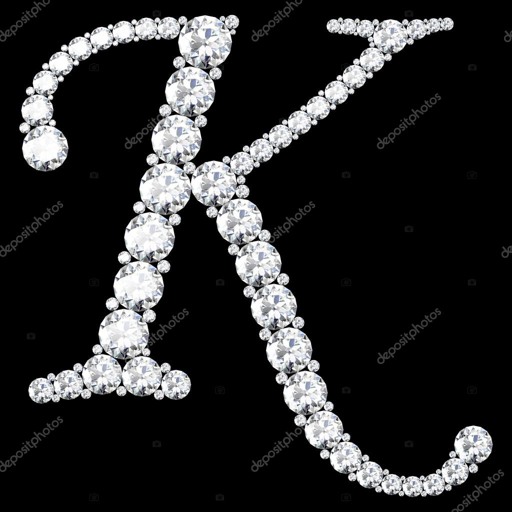 k alphabet in diamond wwwpixsharkcom images
