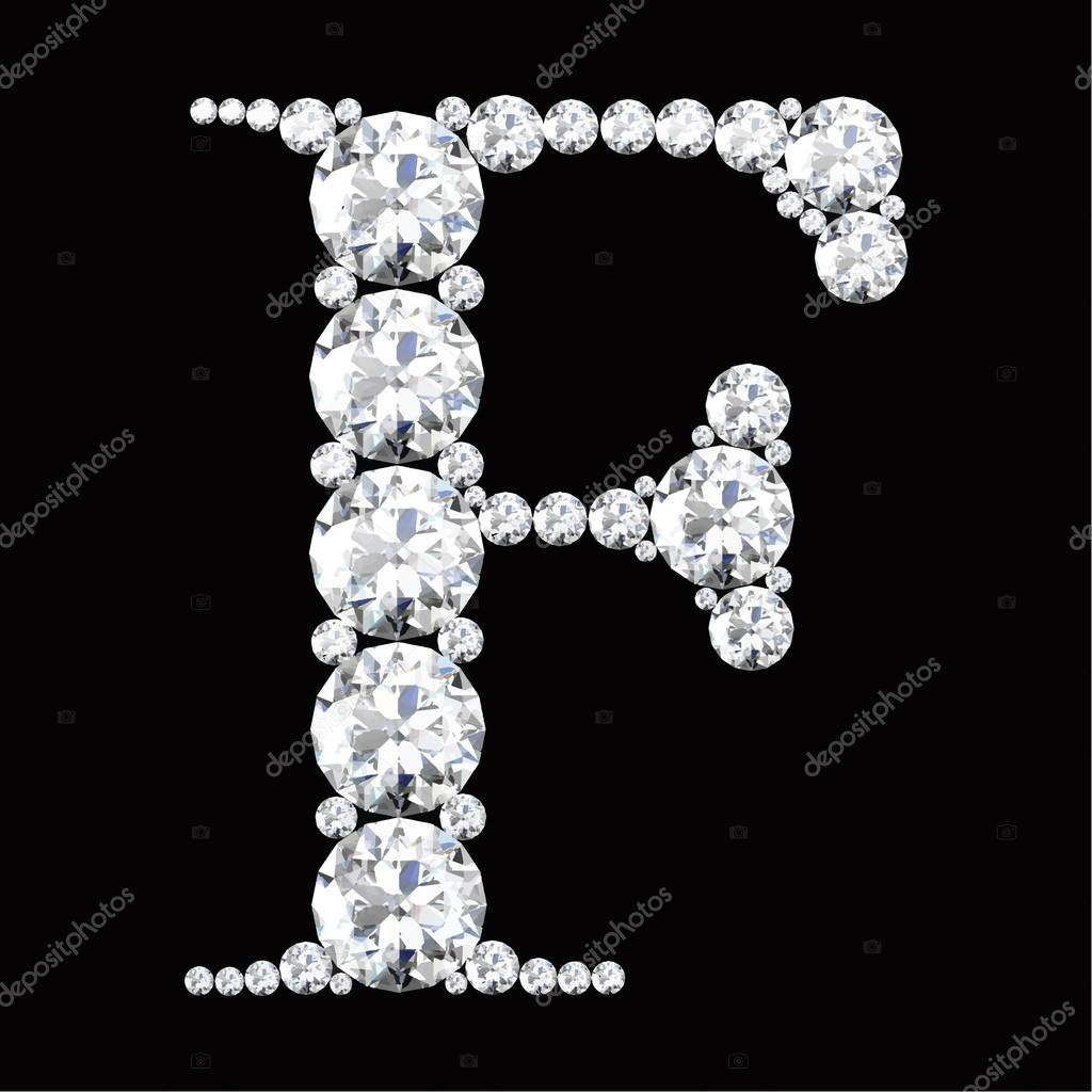 9db417e8563 F Letter made from diamonds and gems — Stock Vector © Boykung #64722329