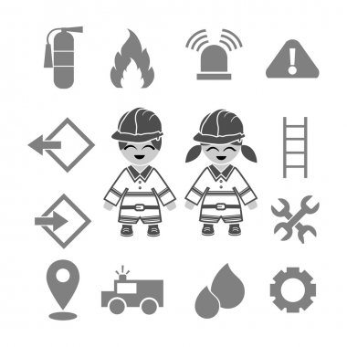 Fire fighter icons