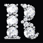 Fotografie R Letter made from diamonds