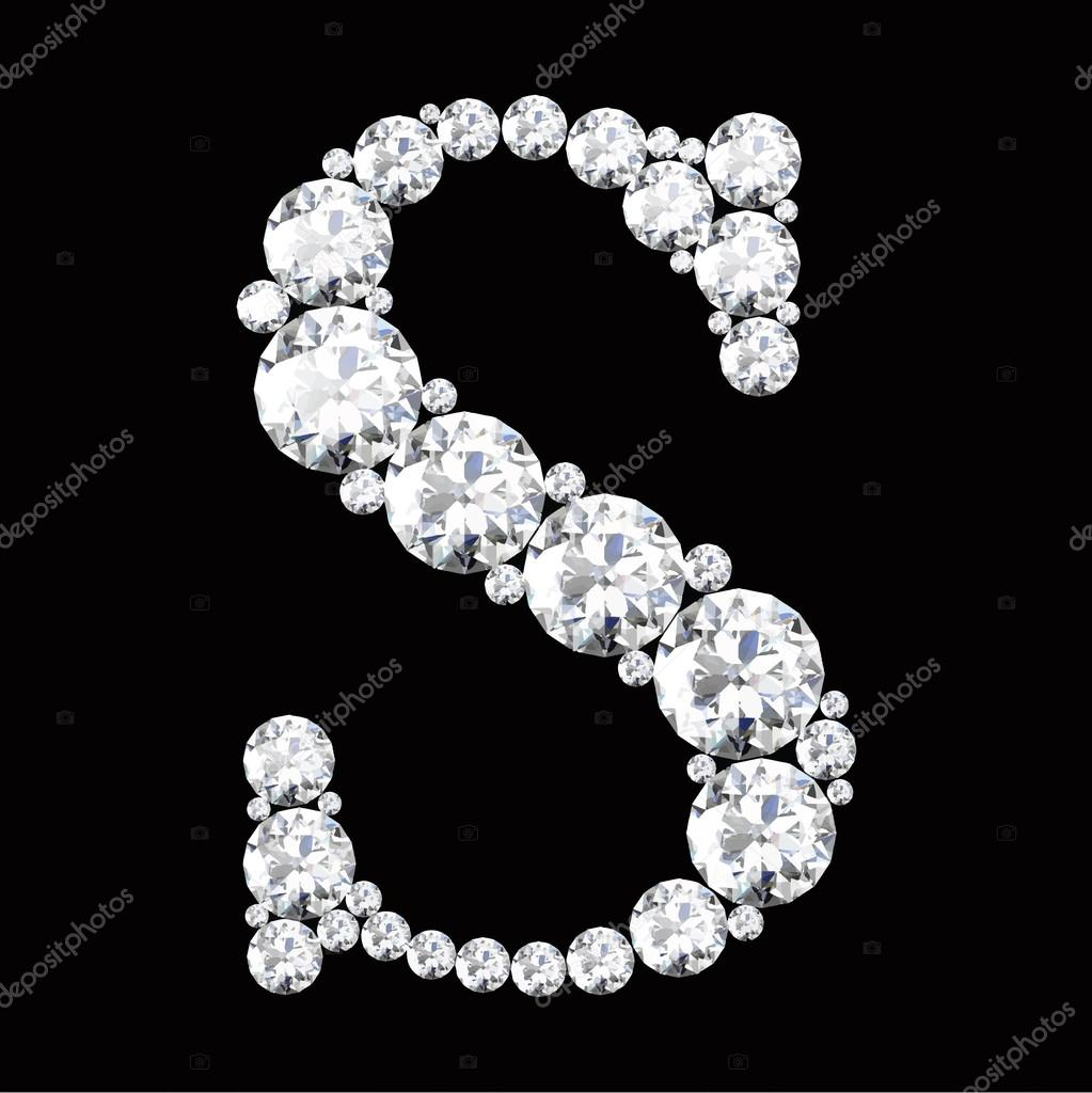 s letter made from diamonds � stock vector 169 boykung 67837849