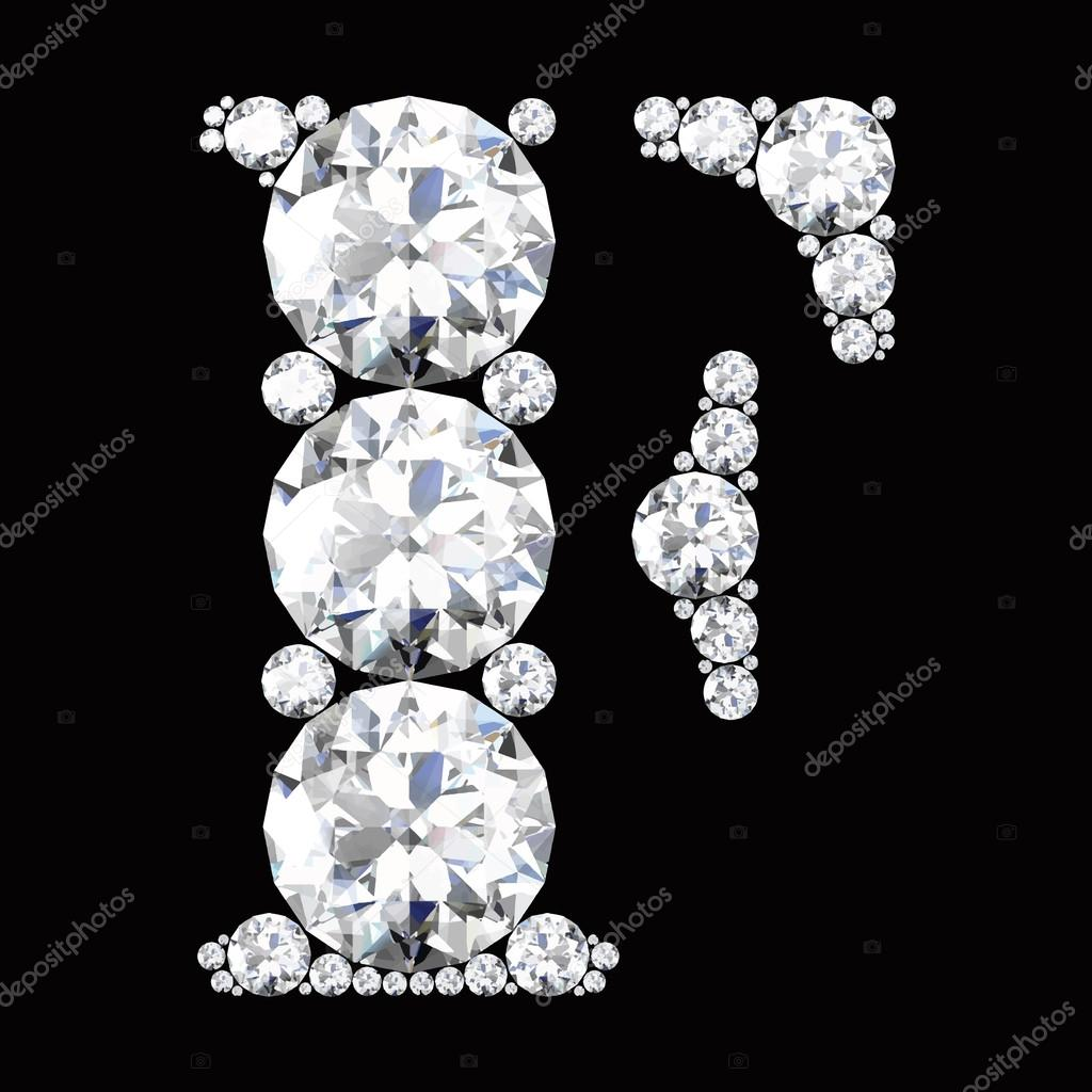 c3d4bc82692 F Letter made from diamonds — Stock Vector © Boykung #67837969