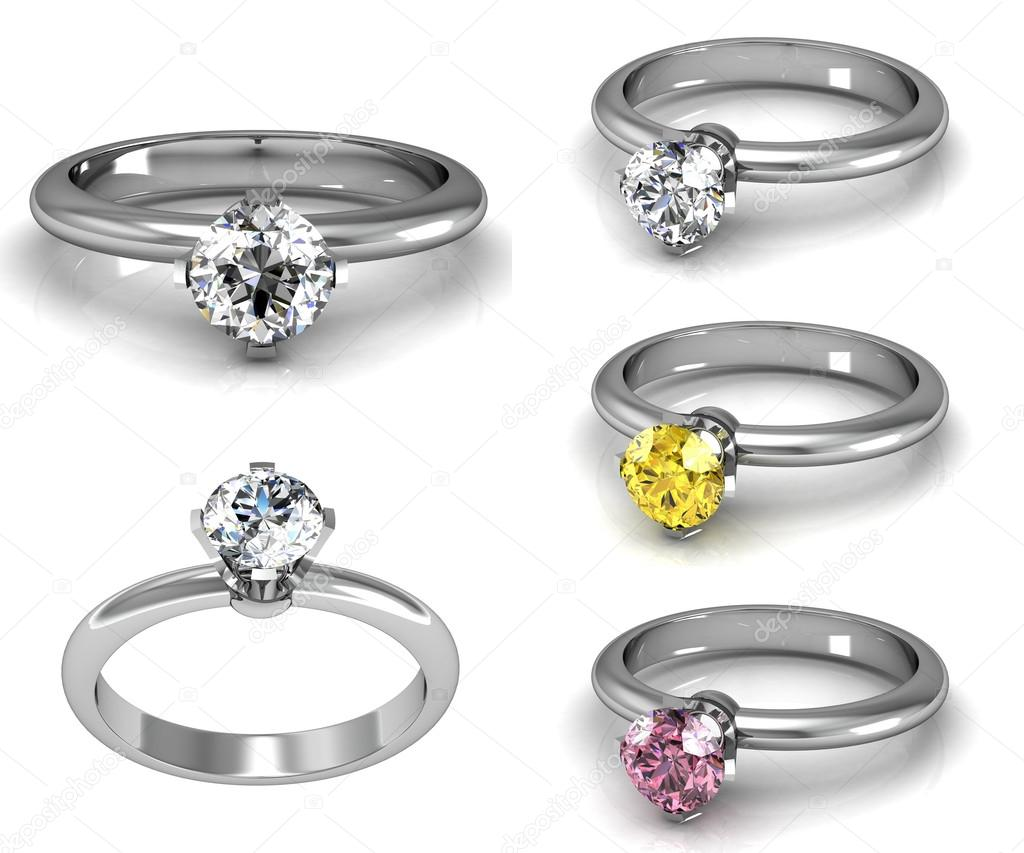 three of wedding engagement nice ring good with pic rings stone