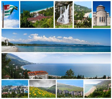 Collage of landmarks of Abkhazia