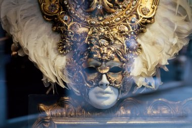 Traditional Venetian mask. Venice, Italy