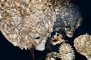 Traditional Venetian masks. Venice, Italy