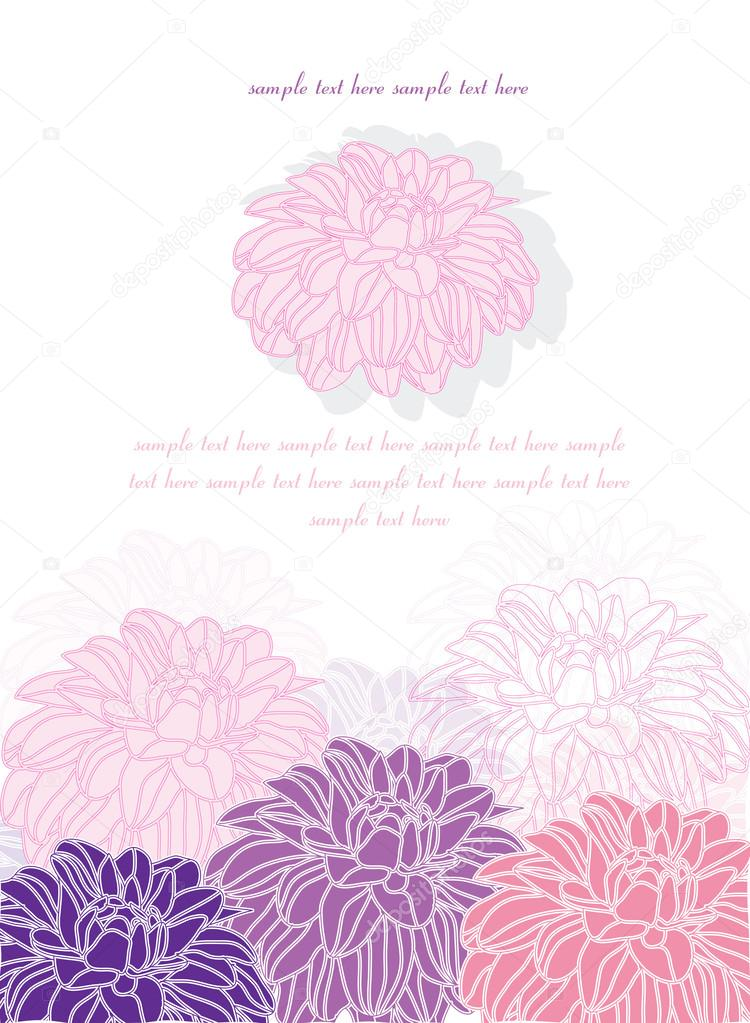 Beautiful delicate flowers