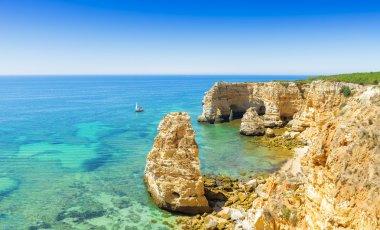 A view of a Praia in Portimao, Algarve region, Portugal