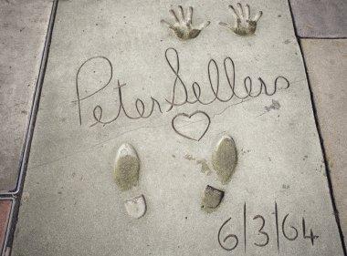 Peter Sellers handprints-footprints in Hollywood