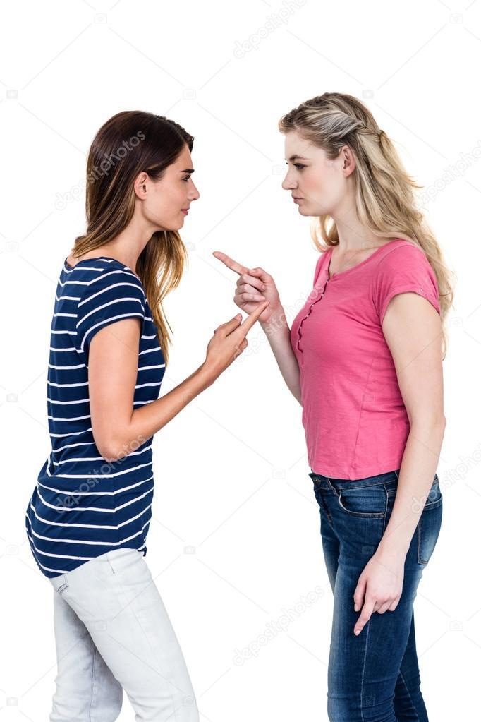 Gegenseitige Anziehung Zwischen Zwei Freundinnen