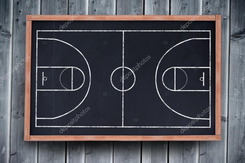 plan de terrain de basket ball photographie wavebreakmedia 113552270. Black Bedroom Furniture Sets. Home Design Ideas