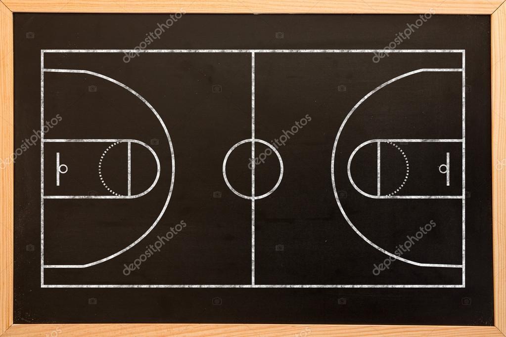plan de terrain de basket ball photographie wavebreakmedia 113554264. Black Bedroom Furniture Sets. Home Design Ideas