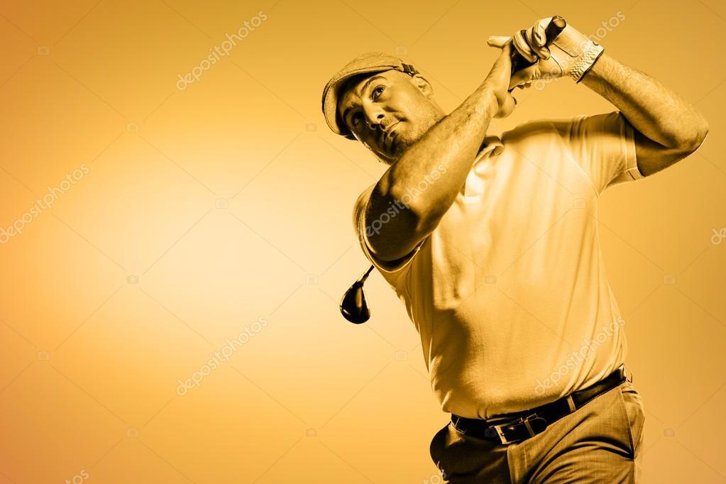 jugador de golf que tiro — Foto de stock © Wavebreakmedia #113562756